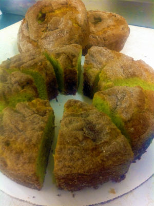 Pistachio Coffee Cake!